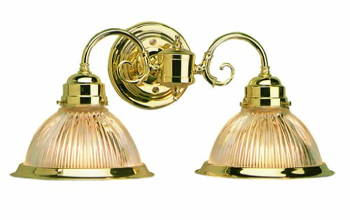 2 Polished Brass Vanities (Design House 503029 Millbridge 2 Light Wall Light, Polished Brass)