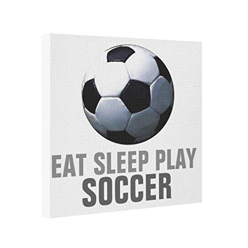 - BUCKIE IY Canvas Picture Frames Eat Sleep Play Soccer Unique Artwork Picture It On Canvas