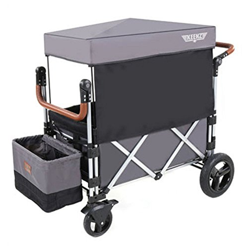 Keenz Stroller Wagon - 7S Pull/Push Wagon Stroller - Safe and Secure Baby Wagon Stroller and Stroller for Big Kids - Versatile Wagon Stroller Ideal for Special Needs, Grey