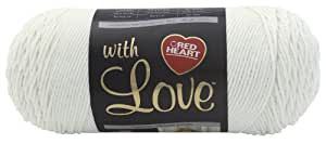 Red Heart with Love  Yarn, White