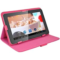 Goldengulf 9 Inch Pink Android 4.2 Dual core Tablet PC + Pink Keyboard Case Bundle, Touch screen A23 Allwinner 8GB, Best gift for girl