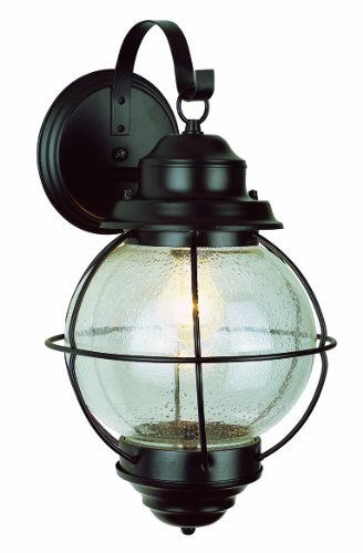 Trans Globe Lighting 69900 BK Outdoor Catalina 13.5'' Wall Lantern, Black by Trans Globe Lighting