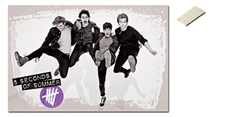 Bundle - 2 Items - 5Sos 5 Seconds Of Summer Jumping Poster -