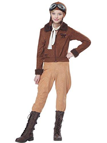 California Costumes Amelia Earhart/Aviator Costume, X-Large, Brown ()