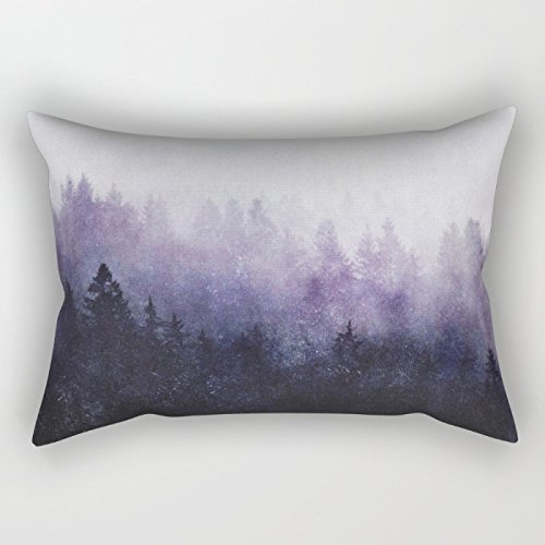 Alphadecor Throw Pillow Case Of Mountians Forest 20 X 30 Inches / 50 By 75 Cm,best Fit For Kids Room,club,wedding,him,birthday,play Room Both Sides
