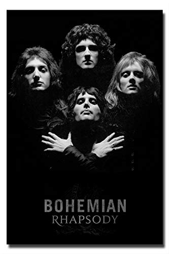 Mile High Media Queen Poster Black and White Wall Art Print - Photo Quality Portrait Bohemian Rhapsody (24x36) ()