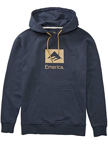 Emerica Men Brand Combo Hoodie Navy Hoodie Size Small ()
