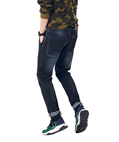 Libero Hx Da Vita Alta Fashion Comode Taglie Pantaloni Di Per Uomo Abiti Dunkelblau Il A Jeans Tempo Stretch pPgpqr