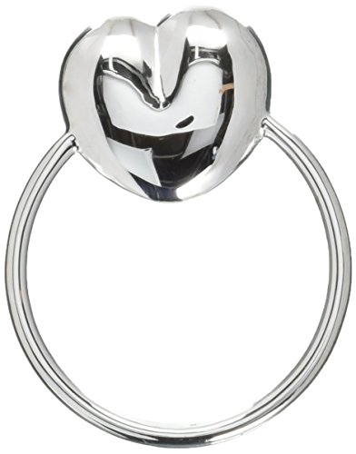 (Krysaliis Sterling Silver Baby Teether Rattle, Heart)