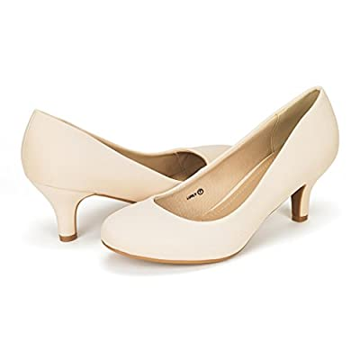 DREAM PAIRS Women's Low Heel Pump Shoes