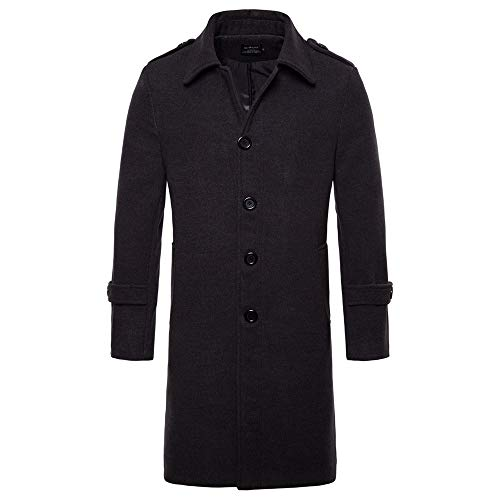 Amazon.com: Clearance Sale for Coat.AIMTOPPY Mens Casual Long Section Pure Color Long Lapel Wool Coat: Computers & Accessories