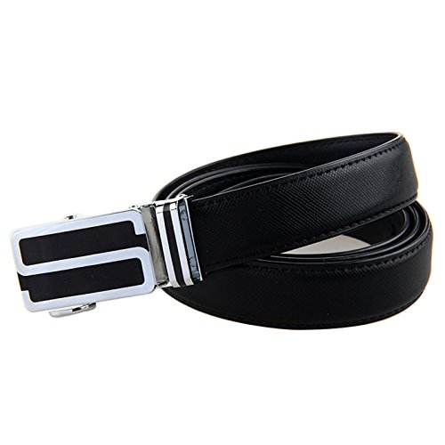 Women's Genuine Leather Belt Real Cowhide Dress Ratchet Belt with Automatic Buckle