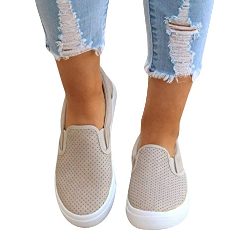 Womens Pinhole Cushioned Sneakers Summer Slip On Running Flat Sandals Shoes