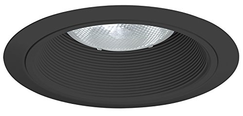Juno Lighting 24B-BL 6-Inch Tapered Downlight Baffle, Black with Black Trim