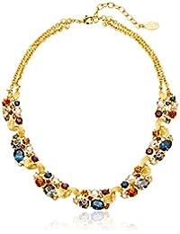 "Arabian Nights Swarovski Crystal Station Gold Necklace, 16"" + 2"" Extender"