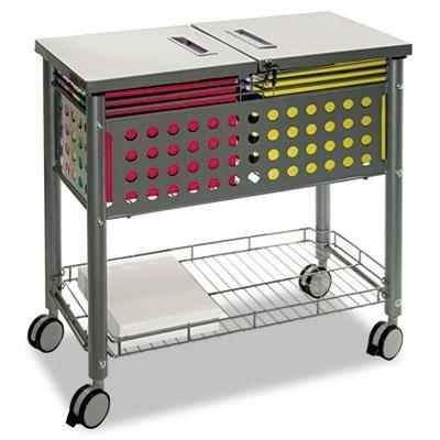 "Vertiflex - Smartworx File Cart One-Shelf 29-1/8W X 14D X 28-3/8H Matte Gray ""Product Category: Office Furniture/File Folder Carts"""