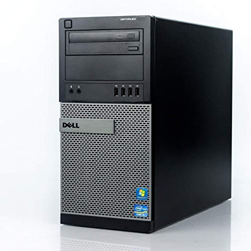 Dell Flagship Optiplex 9020 Tower Premium Business Desktop Computer (Intel Quad-Core i7-4770 up to 3.9GHz, 8GB RAM, 128GB SSD + 3TB HDD, DVD, WiFi, Windows 10 Professional) (Renewed)]()