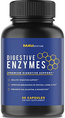 Foods Enzymes Natural (Premium Digestive Enzymes + Probiotics Supplement – All Natural – Stop Bloating & Flatulence With Protease Enzyme + Bromelain Supplements + Lactase Supplements – Better Digestion For Bloating)
