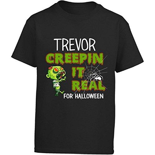 Costume Halloween Trevor (Trevor Creepin It Real Funny Halloween Costume Gift - Girl Kids)