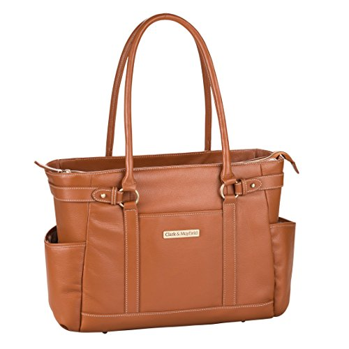 - Clark & Mayfield Hawthorne Leather Laptop Handbag 17.3