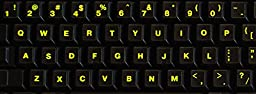 Glowing Reflective Fluorescent English US Lettering Keyboard Sticker