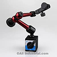 """Soporte Mini Base Magnética 3D 50 lbs. Pull 9 """"Reach for Dial & Test Indicators"""