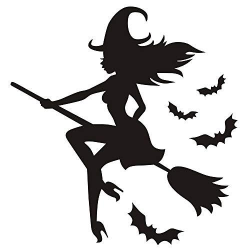 Halloween Home Decoration KIKOY Crow Background Wall Black Sticker Window Decal Decor -