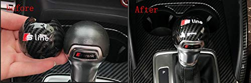 Carbon Fiber Gear Shift Knob Cover Sticker Head Trim for Audi A3 S3 2012-2018