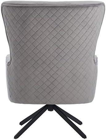 Amazon Com Safavieh Couture Alejandro Glam Slate Grey Velvet Accent Chair Furniture Decor