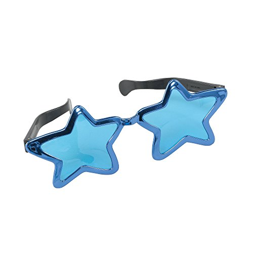 Bristol Novelty GJ339C Jumbo Metallic Star Sunglasses Party Accessory Set, Multi-Colour, One Size]()