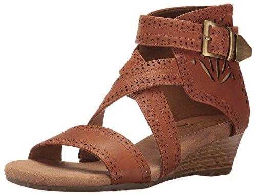 - Aerosoles Women's Yetliner Wedge Sandal, Tan Combo, 8 M US