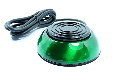 Jellyfishpro Round Colorful Stainless Steel Tattoo Foot Pedal Switch Equipment Supply (Green)