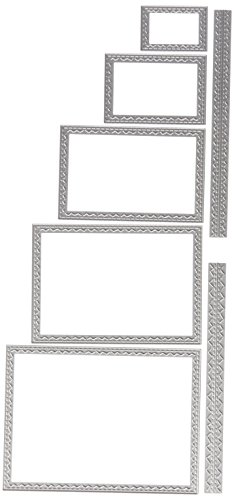 Rectangle Die - Ellison Sizzix Stitched Rectangles Thinlits Die Set by Tim Holtz (7 Pack)