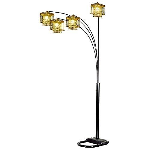 Ore International 4 Arm Arch Floor Lamp - Gold Shade ()