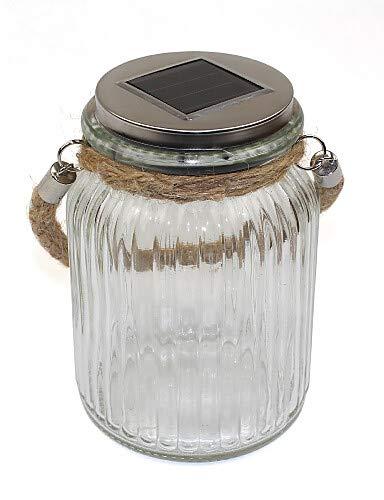 LPZSQ Solar Sun Jar Luz LED para frascos de vidrio y jardín ...