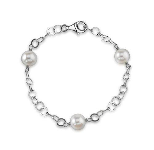 Perles d'eau douce blanc - 9 mm-Circle Bracelet