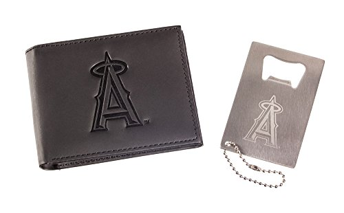 Team Sports America Anaheim Angels Men's Bi-Fold Wallet Gift Set with Key Chain