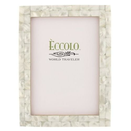 Eccolo Naturals Frame, 4 by 6-Inch, Mother of Pearl (Modern White Mother Of Pearl)