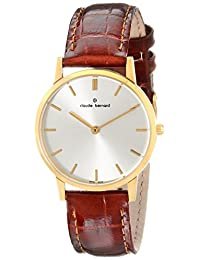 Claude Bernard Women's 20060 37J AID Classic Ladies - Slim Line Analog Display Swiss Quartz Brown Watch