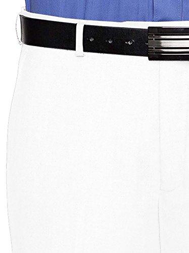RGM Dress Pants for Men Slim fit Modern Flat-Front - Formal Business Wrinkle Free No Iron White 50 Medium by RGM (Image #1)'