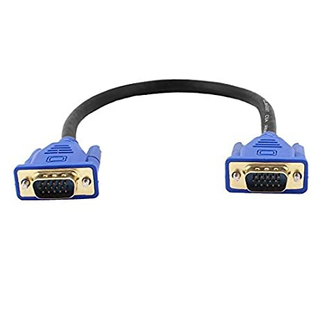 Amazon.com: DealMux 30 centímetros 1FT 15 Pin VGA macho para macho cabo conector M / M Cabo Adaptador azul para PC portátil: Electronics