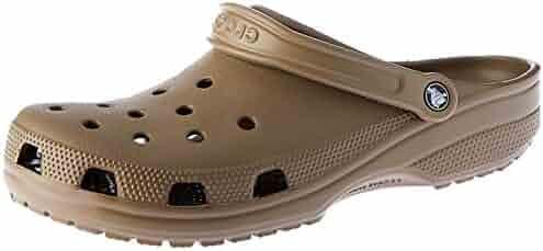 Crocs Womens Alligator Closed Toe Ankle Strap Mules, Khaki, Size 9.0