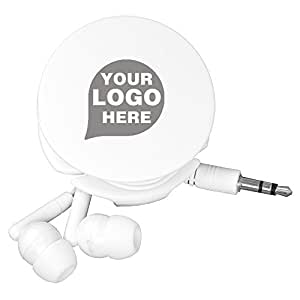 'Wrap and Run' Ear-Bud Headphone Travel Set - 100 Quantity - $2.65 Each - PROMOTIONAL PRODUCT / BULK / BRANDED with YOUR LOGO / CUSTOMIZED