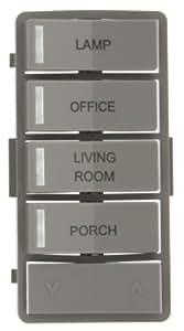 Leviton VPZLB-Z4G Vizia RF + Gray Label Kit for 4-Button Zone Controller (VRCZ4)