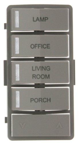 (Leviton VPZLB-Z4G Vizia RF + Gray Label Kit for VRCZ4 4-Button Zone Controller)