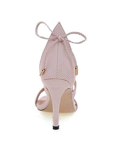 Tacones Vestido Casual Sandalias Personalizados el mujer Tobillo Zapatos Tira y en Tacón LFNLYX Materiales Noche Pink Fiesta Stiletto de wfpqxFxX4