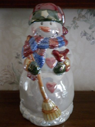 Ganz Glazed Snowman Candle Holder, Snowman Holding a Bird, Candle Holder