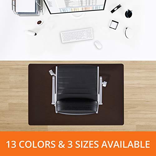 Desk Chair Mat for Hardwood Floor - Premium Colorful Hardwood Floor Protectors | One Office Chair Mat for Hardwood - Brown - 48