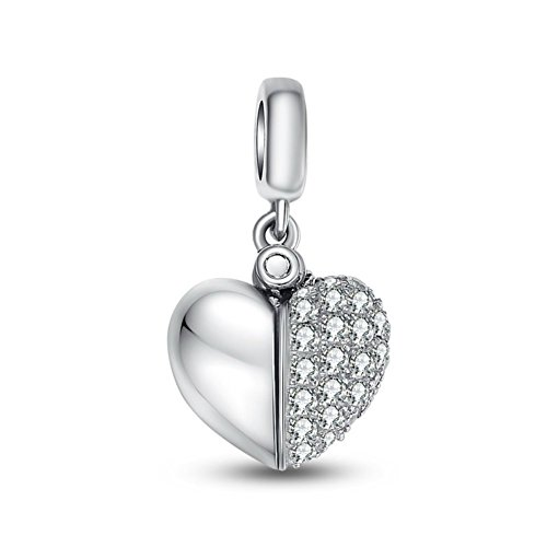 Swarovski Crystal Quot I Love You Quot Constantly Open Heart 925