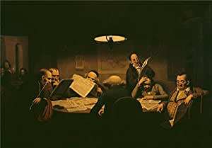 'Johann Peter Hasenclever The Reading Room ' oil painting, 10 x 14 inch / 25 x 37 cm ,printed on polyster Canvas ,this High Definition Art Decorative Canvas Prints is perfectly suitalbe for Nursery decoration and Home decoration and Gifts